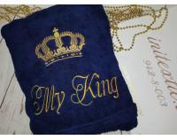 """Именной халат """"My King"""" с вышивкой """"Корона 7"""""""