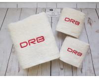 """Набор полотенец """"Буржуа"""" с вышивкой логотипа DRB"""