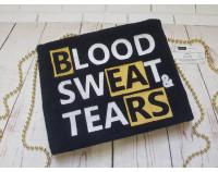 "Вышивка логотипа ""Blood Sweat & Tears"""