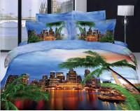 """Постельное белье """"Отпуск в Майами"""" мако сатин 3D"""