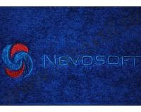 """Вышивка логотипа """"Nevosoft"""" на полотенце"""