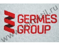 "Вышивка логотипа ""Germes Group"" на полотенцах и халатах"