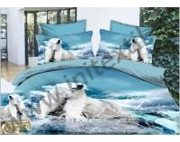 """Постельное белье """"Белый медведь""""  мако сатин 3D"""