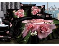 """Постельное белье """"Цветочный рай"""" мако сатин 3D"""