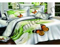 """Постельное белье """"Белые тюльпаны"""" мако сатин 3D"""
