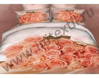 """Постельное белье """"Букет из роз"""" мако сатин 3D"""
