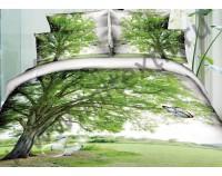 """Постельное белье """"Дерево"""" мако сатин 3D"""