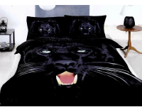"""Постельное белье """"Пантера"""" мако сатин 3D"""