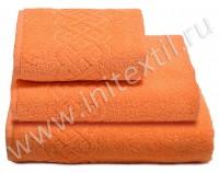 """Полотенце махровое """"Plait"""", оранжевое"""