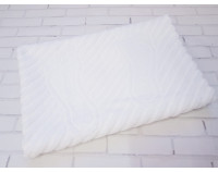 Полотенце коврик для ног махровый, белый