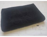 Полотенце коврик для ног махровый черный