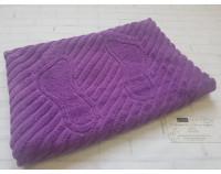 Полотенце коврик для ног махровый фиолетовый