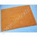 Полотенце коврик для ног махровый оранжевый