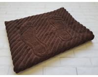 Коврик для ног махровый, шоколадный