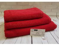 """Полотенце махровое """"Premium"""" красное"""
