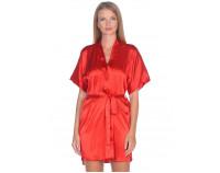 Шелковый халат красный