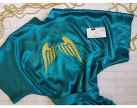 """Шелковый именной халат с вышивкой """"Angel"""""""