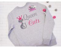"""Свитшот с вышивкой """"Королева кошек"""""""