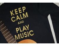"""Толстовка свитшот """"Keep Calm and Play Music"""""""
