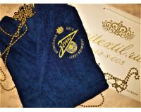Халат махровый классический с вышивкой логотипа футбольного клуба